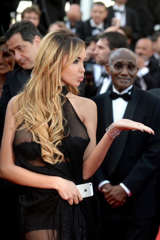 Nabilla lors du festival de Cannes