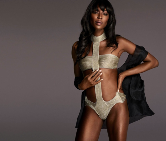 Naomi Campbell pose pour la campagne La Perla Made to Measure Atelier 2015