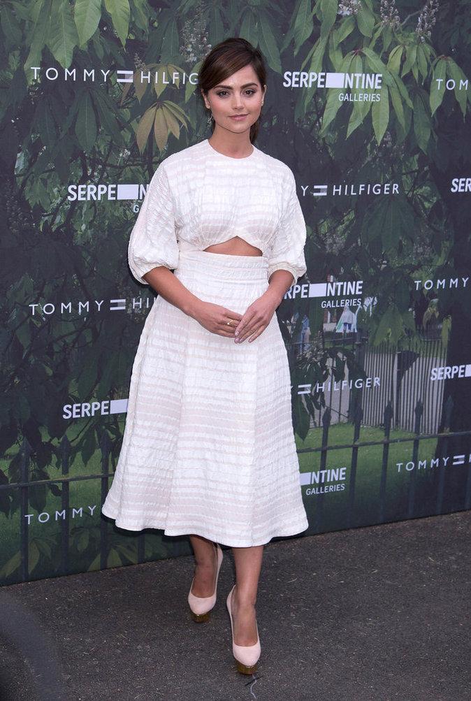 Jenna Coleman à la soirée Tommy Hilfiger