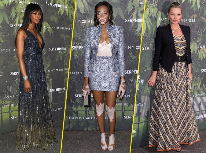 Naomi Campbell, Winnie Harlow et Kate Moss à la soirée Tommy Hilfiger