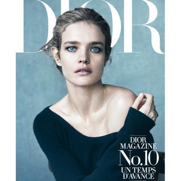 Natalia Vodianova en couverture de Dior Magazine