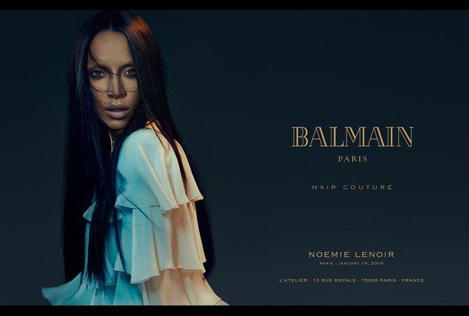 Noémie Lenoir : Sublime et hypnotisante pour la nouvelle campagne Balmain Hair Couture !