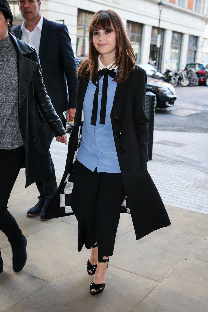 L'actrice Felicity Jones, le 12 octobre à Londres