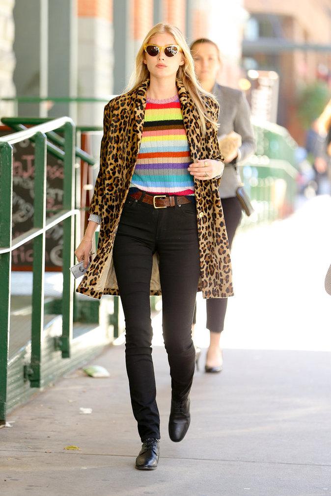 Le mannequin Elsa Hosk, le 16 octobre à New York
