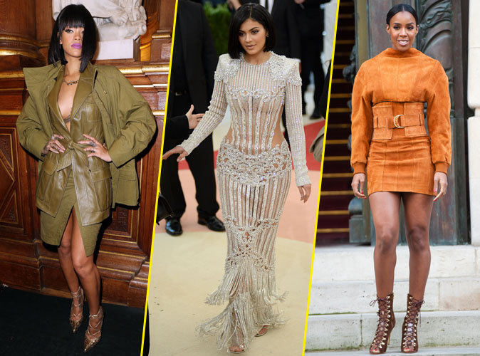 Rihanna, Kylie Jenner et Kelly Rowland en Balmain