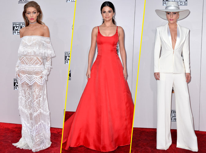 Plutôt Gigi, Selena ou Gaga ? Votez pour votre look préféré des American Music Awards !