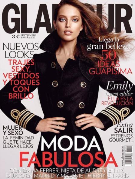 Emily DiDonato en couverture de Glamour Espagne