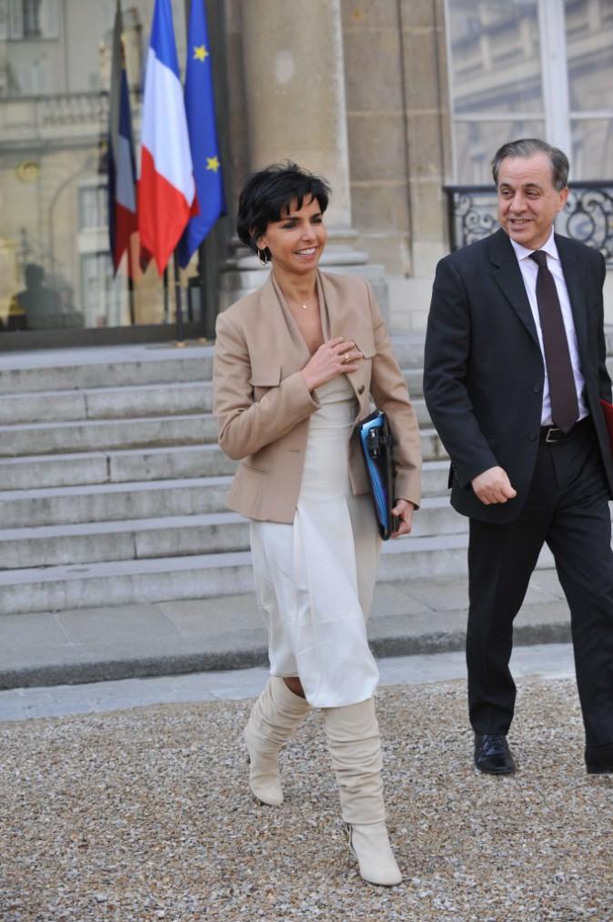 11/03/2009 : Rachida Dati quitte le Conseil des Ministres