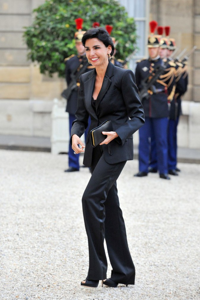 14/06/2008 : Rachida Dati arrive à l'Elysée pour un repas d'affaire avec Nicolas Sarkozy