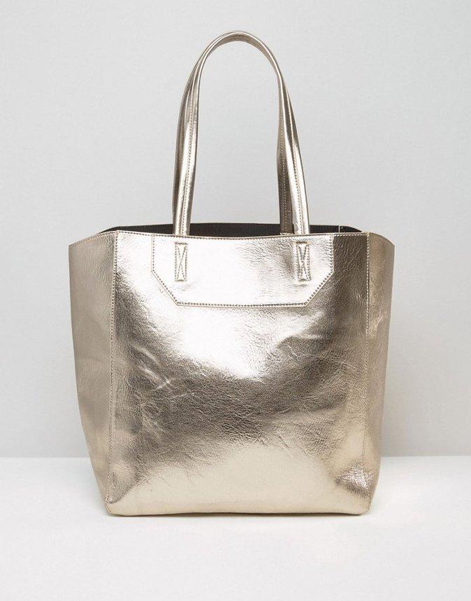Cabas métallisé – ASOS – 26,99€