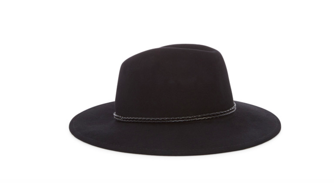 Chapeau en feutre avec corde tressée – MONOPRIX – 39,99€