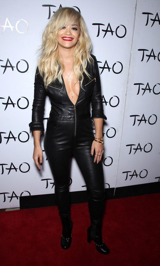 Combinaison en cuir : Don't : Rita Ora