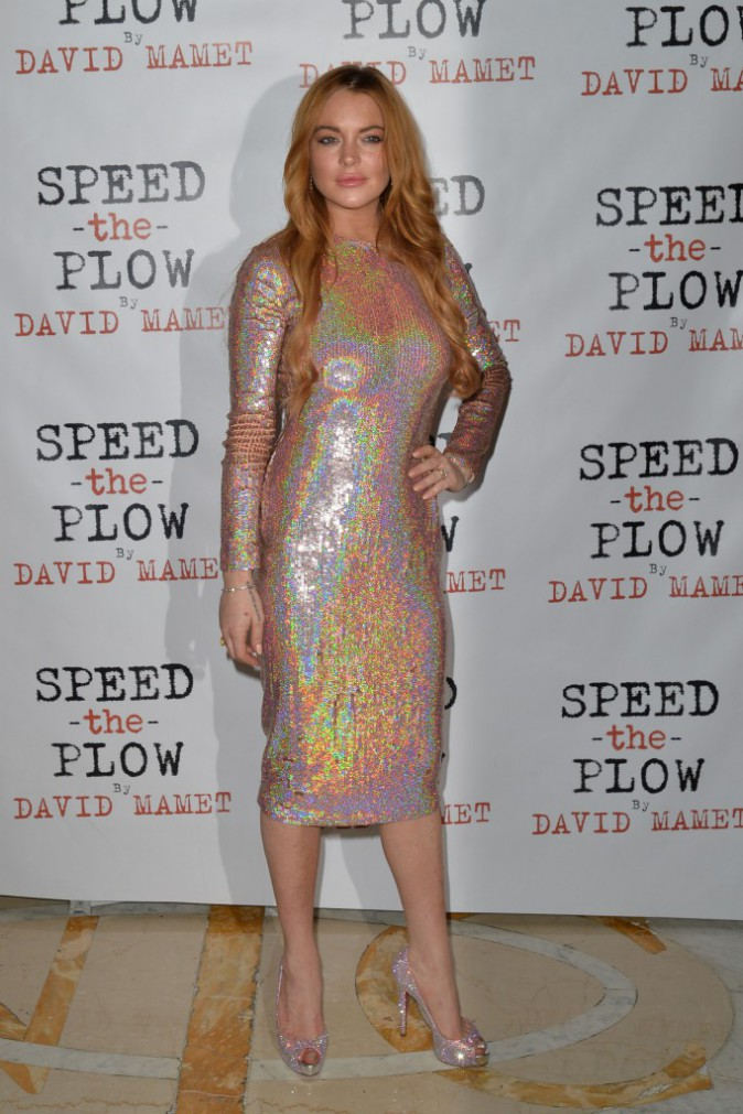 Robe sequin : Don't : Lindsay Lohan