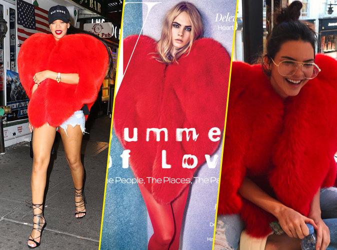 Photos : Rihanna, Cara Delevingne, Kendall Jenner : qui porte le mieux le manteau Saint Laurent ?