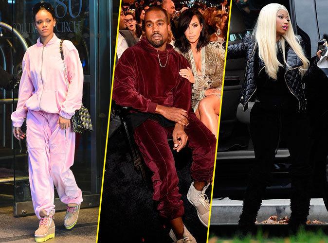 Photos : Rihanna, Kanye West, Nicki Minaj : ils relancent le survêtement en velours !