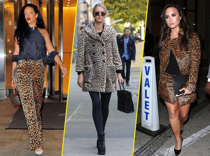 Photos : Rihanna, Nicky Hilton, Demi Lovato... Elles craquent toutes pour le léopard !