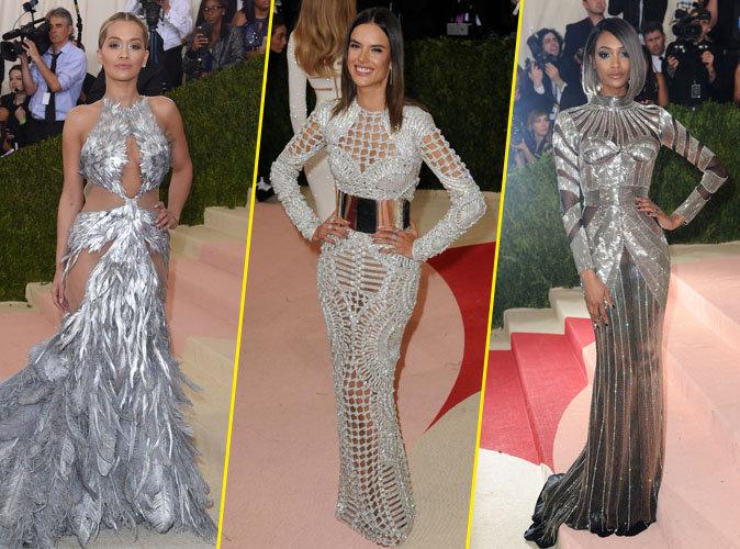 Rita Ora, Alessandra Ambrosio et Jourdan Dunn sur le red carpet du Met Gala 2016
