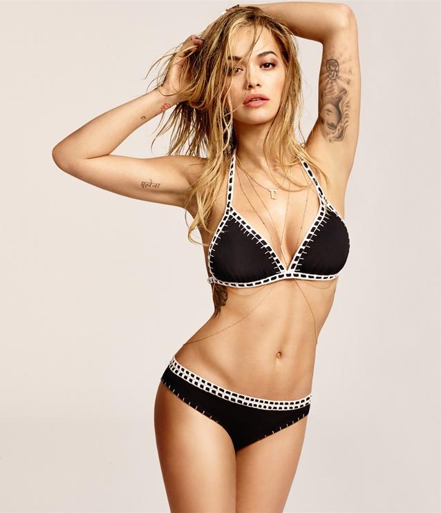 Photos : Rita Ora : haut les mains pour Tezenis !
