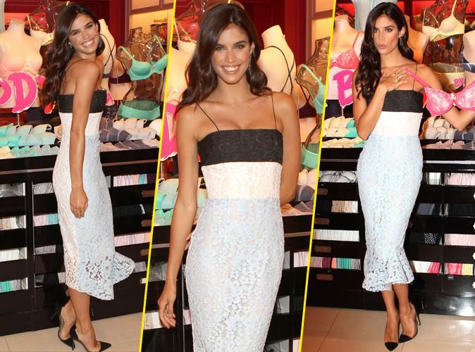 Photos : Sara Sampaio : le nouvel ange assure la promo Victoria's Secret au Texas !