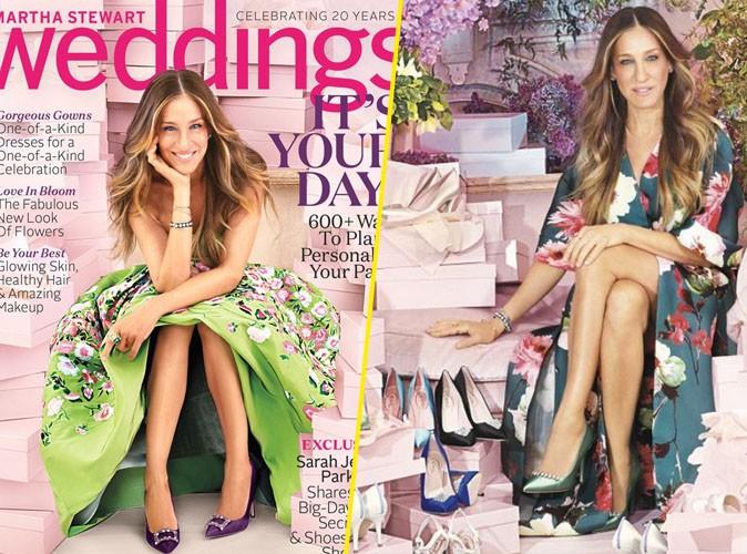 Photos : Sarah Jessica Parker se met aux chaussures de mariage !