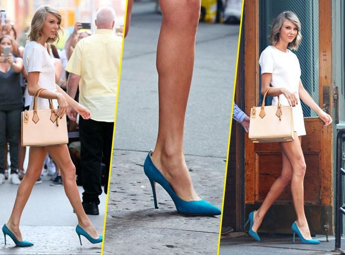 Taylor Swift avec des SPJCollection aux pieds