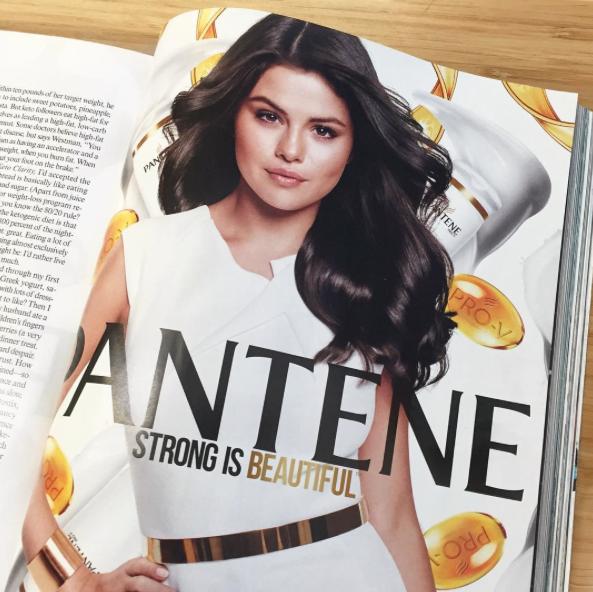 Selena Gomez pour Pantene dans le nouveau numéro de Vogue