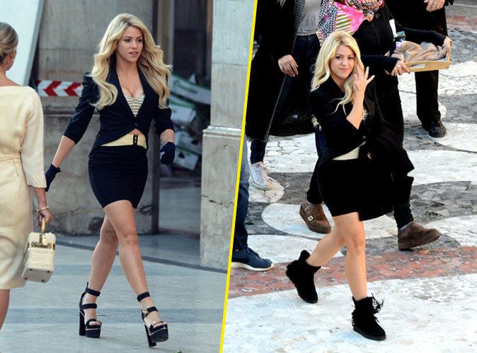 Shakira : en déesse à Barcelone pour tourner une nouvelle pub !