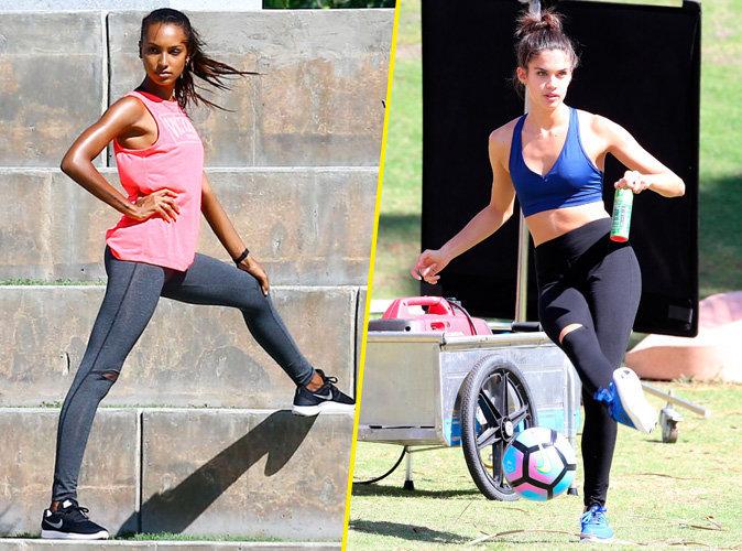 Photos : Shooting de copines avec Sara Sampaio et Jasmine Tookes pour Victoria's Secret's Sport Apparel