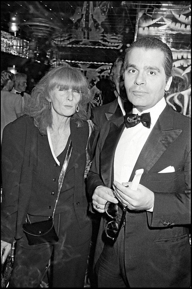 Sonia Rykiel et Karl Lagerfeld