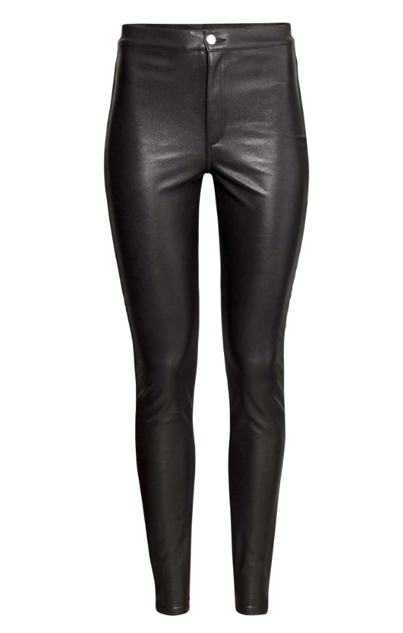 Pantalon en imitation cuir, H&M, 19,99 €