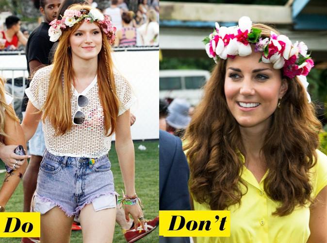 La couronne de fleurs : Do - Bella Thorne : Don't - Kate Middleton