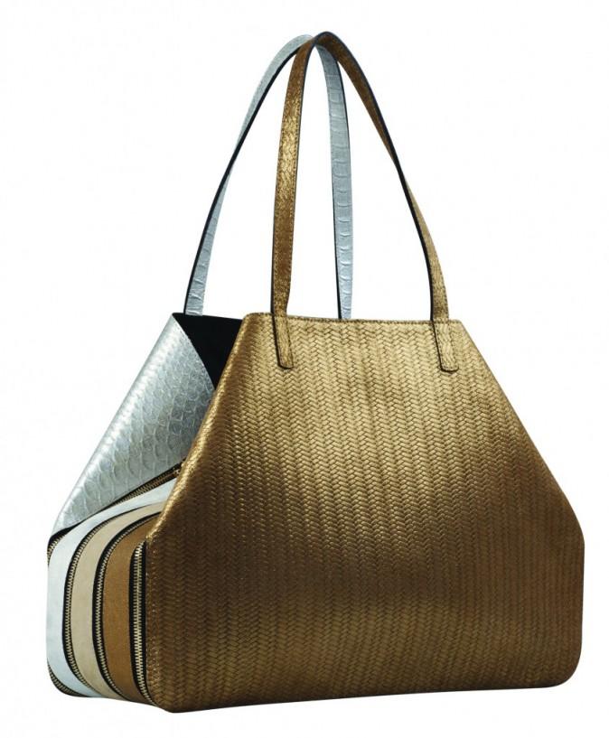 Sac à main en cuir multifacettes à glissières, Le Facette 990 €