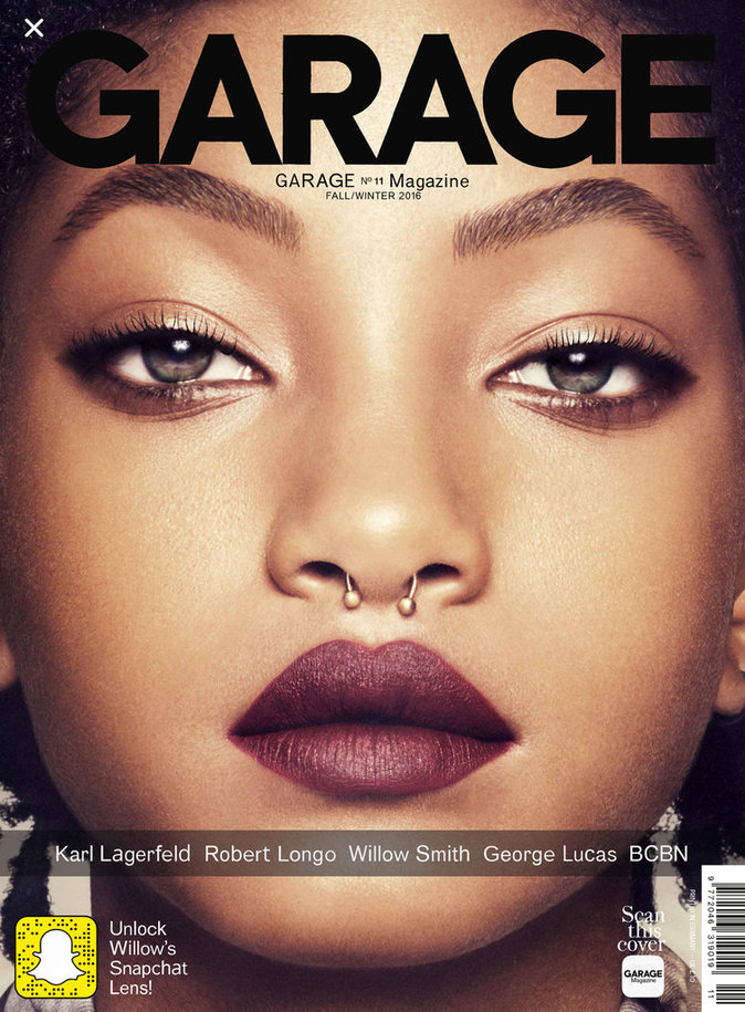 Photos : Willow Smith et Kendall Jenner invitent Snapchat chez Garage magazine !