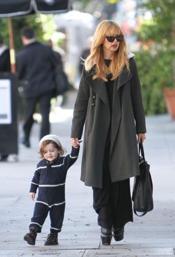 Rachel et son fils.