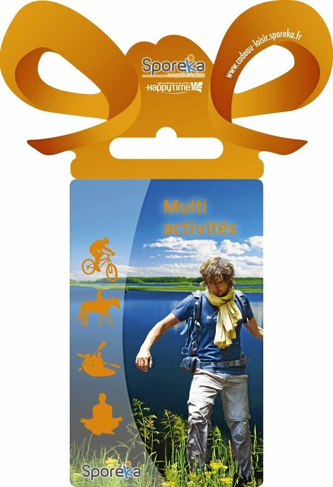 les cartes cadeaux multi-activités : sport d'eau, sport de plein air et week-end sportif,  soyez sûrs de faire plaisir à tout le monde tout en maîtrisant votre budget (de 40 à 140 €).