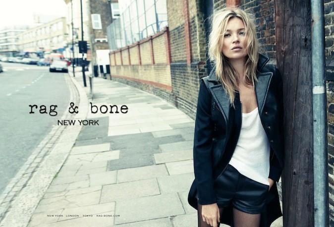 Kate Moss pour Rag & Bone