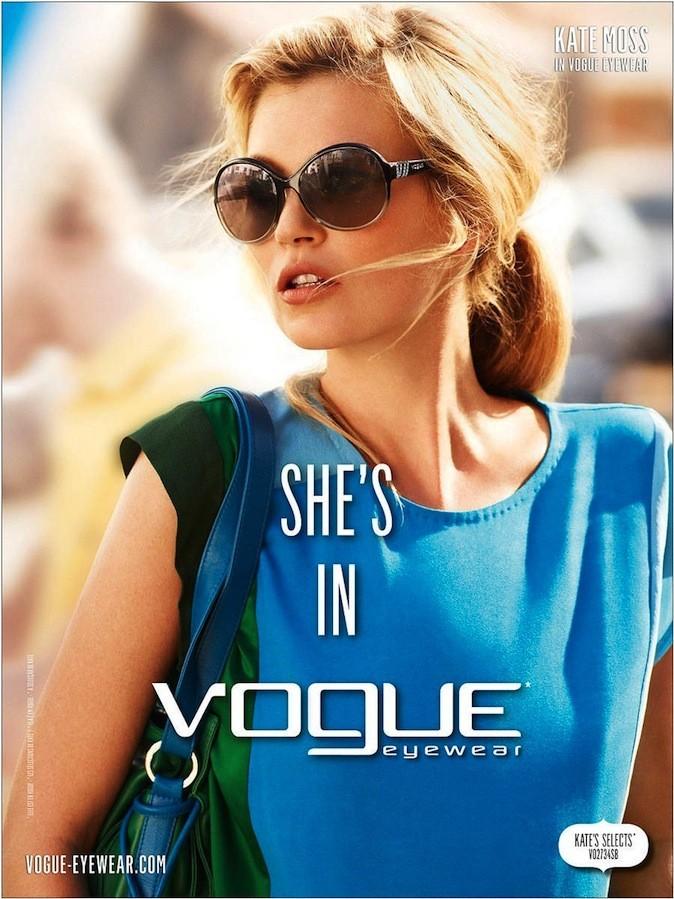 Kate Moss pour Vogue Eyewear