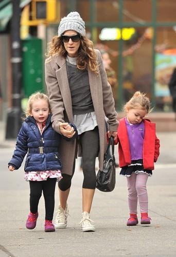 Même Sarah Jessica se met au legging.