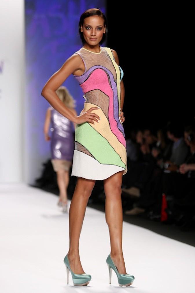 Au défilé Naomi Campbell en 2010