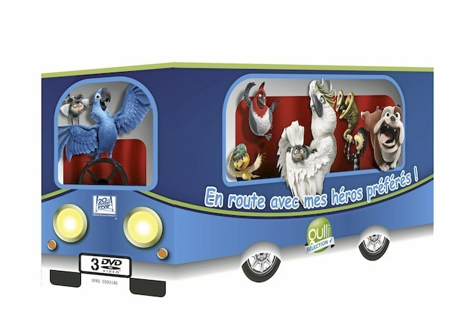 Coffret bus 3 DVD : Rio, Horton et Festin de requin, Gulli 19,99 €