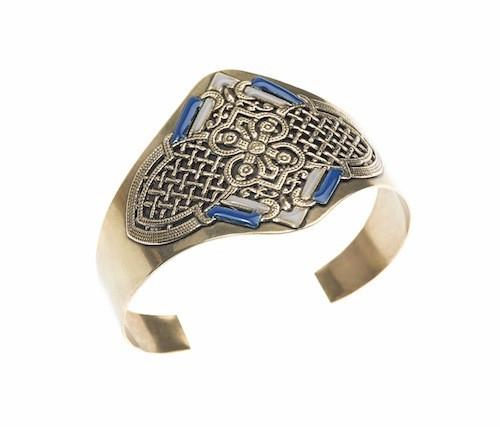 Manchette sérail gris et bleu, Virginie Mahé 58€