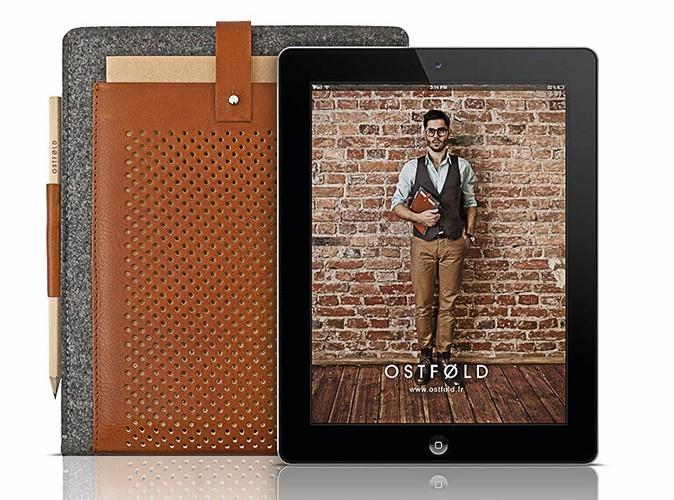 Étui iPad. À découvrir sur Ostfold.fr, 75 €.