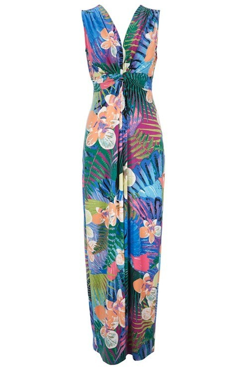 Maxi robe imprimé fleurs, Wallis 72 €