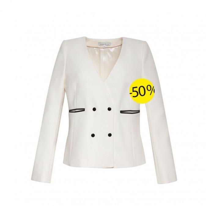 Veste en laine, Sandro : 147,5 euros au lieu de 295 euros