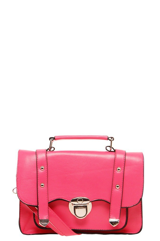 Sac rose Juliette Miniature Satchel, sur boohoo.com 24€