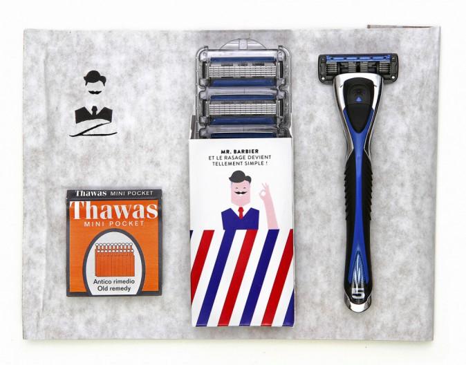 """Box """"Le Président"""" (1 rasoir + 3 recharges de lames + 1 surprise) Mr. Barbier Par abonnement À partir de 4,99 € par mois"""