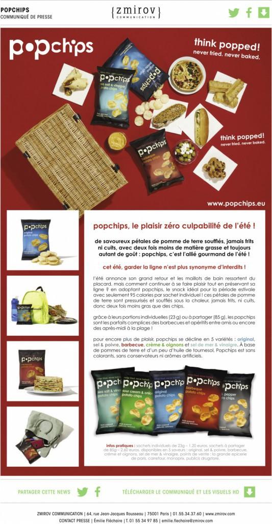 Pop Chips sachet individuel de 23 g, 1,20 €.