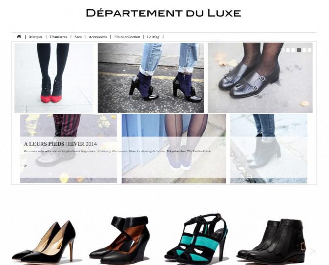 Le luxe à vos pieds : departementduluxe.com !