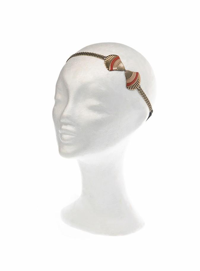 Un hiver à l'eau de rose : Headband coquillage en laiton, Virginie Mahé, 48 €