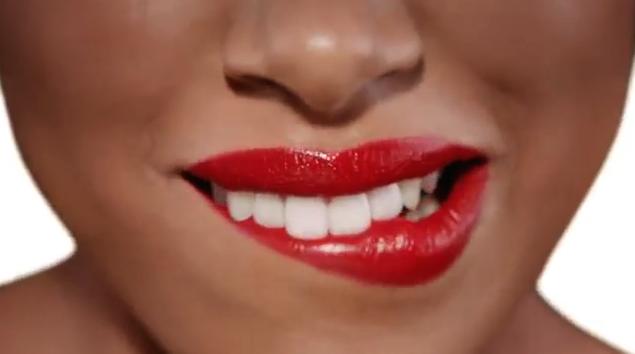 Des lèvres rouges passion